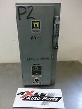 USED SQUARE D SIZE 0 COMBO STARTER BOX PANEL DISCONNECT SWITCH BREAKER 3/5HP