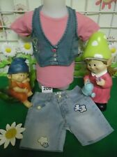 vêtements occasion fille 18 mois,short jean LULU CASTAGNETTE,t-shirt DPAM,gilet