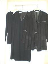 3 Teile,Rene Lezard Etuikleid, Seeler Longbluse Tunika, Strenesse Shirt,  Gr.42