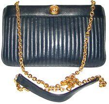 ANNE KLEIN Blue Leather handbag  shoulder bag purse clutch