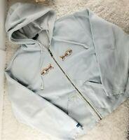 Kavu mens white full zip hoodie sweatshirt SIZE L embroidered logo (H)