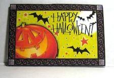 Dollhouse Miniature Halloween Welcome Mat - Jack-O-Lantern with Bats