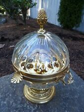 Vintage Martin Benito French Bronze & Crystal Large Liqueur Server Dome