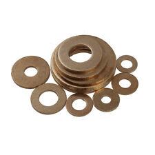 300 Pieces M5 x 10 x 0.8mm Brass Flat Washer