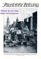 New York Geschäftsviertel XL 1924 Kunstdruck Titelseite C. Albrecht Manhatten +