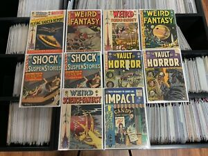 EC Comics Pre-Code Horror/Sci Fi Lot! 10 Total! Weird Science/Vault Of Horror!