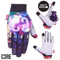 CORE Protection Gloves Cycling/BMX/Bike/MTB/Motocross - Neon Galaxy