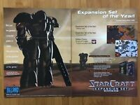 StarCraft: Brood War PC 1998 Vintage Print Ad/Poster Official Big Box Promo Rare