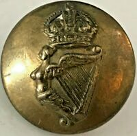 Irish Guards Brass Uniform Button with King's Crown 18 mm
