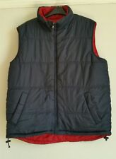 Men's reversible Gilet bodywarmer size Large Navy / red by BOSTON CREW