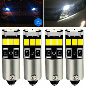 4X 9LEDs 3W BA9S H6W T4W Canbus Licese Plate Light Dome/Trunk/Map Light Sideligt