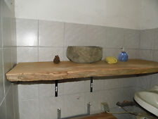 Wurmeiche, Eichenbohle,Waschtischplatte,ca.100x40-45x4cm,Eiche,geschliffen, alt