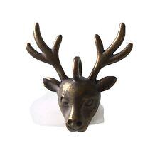 Mini Deer Head Metal Charm