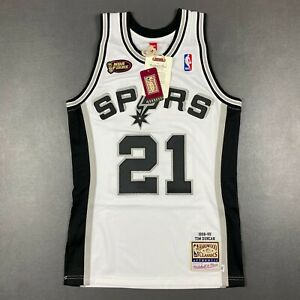 100% Authentic Tim Duncan Mitchell Ness 98 99 NBA Finals Jersey Size 36 S Mens