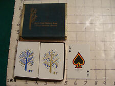 Vintage Cards: union dime savings bank, double deck in box, TREE AND BIRDS
