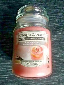 new Yankee Candle rose lemonade large jar - pink - great gift