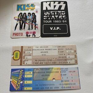Lot Of 2 KISS + TICKETS U.S. CONCERT TOUR BACKSTAGE PASS-GENE SIMMONS