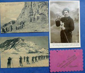 6 CPA d'un CHASSEUR ALPIN du 12è Régiment 1915-1916