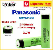 Panasonic NCR18650B 3400mAh Lithium Li-Ion Flat Top Rechargeable batteries