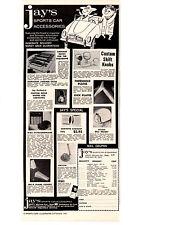 1960 JAY'S SPORTS CAR ACCESSORIES  ~  VINTAGE ORIGINAL PRINT AD