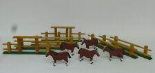 Reifentiere 5 Pferde mit Weidezaun 7 tlg. Handwerkskunst aus dem Erzgebirge