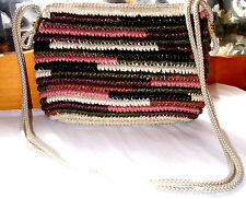 """Vintage Straw Shoulder Bag """"Made in Japan"""""""