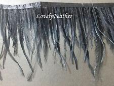 EMU feather fringe of black color 2 yards trim