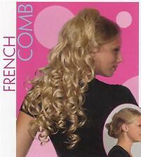 "Blonde 23""long Interlocking comb Hairpiece Hairdo/30colo"