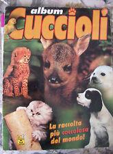 ALBUM CUCCIOLI ED MASTERS COLLECTION DEL 2002 DEGLI ANIMALI CON  144 FIGURINE