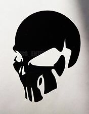 Black Evil SKULL Decal Sticker Vinyl Badge for Cars Vans SUV Camper Quads Bikes