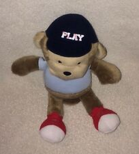 """Just One You Brown Monkey Baseball PLAY Stuffed 10"""" Toy Blue Shirt Cap Red Shoes"""