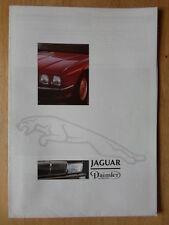 JAGUAR DAIMLER RANGE 1987 UK Mkt Sales Brochure - XJS Sovereign V12 XJR-6 XJ40