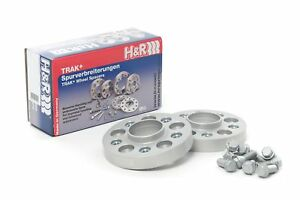 H&R 30mm Silver Bolt On Wheel Spacers for 2011-2016 Fiat Abarth 500