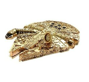 Hot Wheels Star Wars Exclusive Golden Die Cast Starships MILLENNIUM FALCON NEW