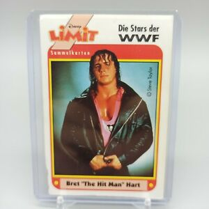 "WWF Bret ""The Hit Man"" Hart Disney Limit German Very Rare Trading Card 1991"