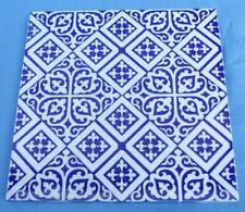 """Large 8"""" Square Blue & White Pottery Tile"""