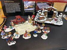 "Hawthorne Village-Thomas Kinkade ""Village Christmas Gate"" and 13 More.judb"