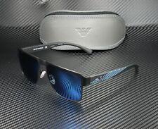 EMPORIO ARMANI EA2066 300155 Matte Black Blue Mirror Blue 57 mm Men's Sunglasses