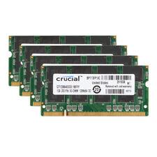 Crucial 4X 1GB PC2700S 333MHZ DDR 200pin SO-DIMM CL2.5 RAM Laptop Memory PC2700