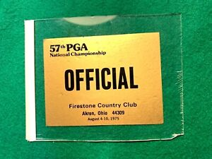 "Vintage PGA 57th National Championship Firestone CC ""Official"" Sticker 1975"