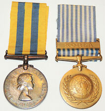 WW2 Korean War Canadian Korea Medal +  United Nations Korea Medal pair named!