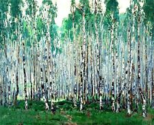 Oil painting Gorbatov Konstantin - Spring in the birch forest Hand painted canva