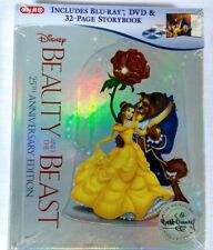 Beauty and the Beast 25th Edition (Blu-ray DVD) Target Storybook NEW Sealed