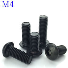 M4 4mm M4x0.7 black 10.9 Alloy Steel - Hex Socket BUTTON HEAD Screws - ISO7380