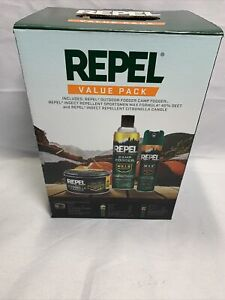 Repel Insect Mosquito Tick Repellent Outdoor Value Pack 2 Sprays & Candle NEW H1