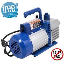 HVAC Vacuum Pump Dual 2 Stage 4CFM 1/3HP Rotary Vane Deep AC Air Tool R410a R134