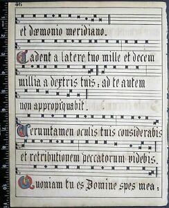 Deco.Latin manuscript leaf,fancy initials done in German scriptorium,18thC.#45f