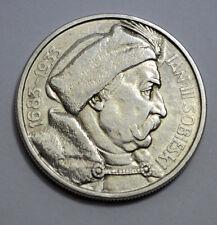 SCARSE 1933 Poland 10 Zlotych Jan III Sobieski 250th Ann. .750 Silver Coin
