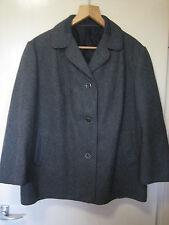 Un vintage da donna gannex Alta qualità Grigio Giacca/Cappotto PER AUTO MISURA 40s stile LT 1063