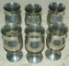 Goodwood Stewards' Cup 1972 TOUCH PAPER 6 Pewter Goblets ~ Winner's PRIZE
